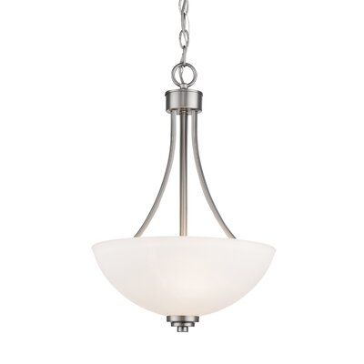 Kepner 3-Light Inverted Pendant Finish: Brushed Nickle