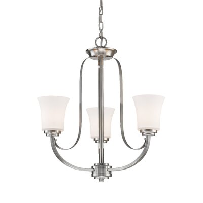 Whelan 3-Light Shaded Chandelier Finish: Brushed Nickel