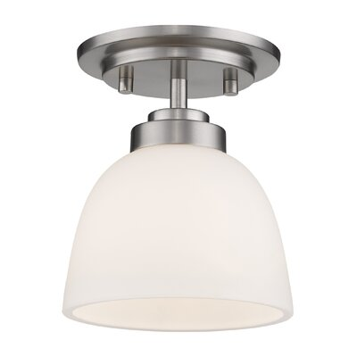 Ashton 1-Light Semi Flush Mount Finish: Brushed Nickle
