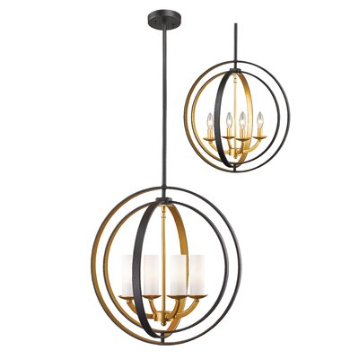 Kiara 4-Light Globe Pendant Finish: Bronze Gold, Size: 30 H x 19.125 W x 15.13 D