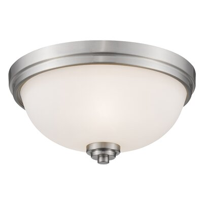 Kepner 3-Light Metal Flush Mount Finish: Brushed Nickle