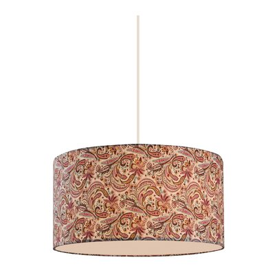 Chason 3-Light Drum Pendant Shade Color: Pink/Burgundy, Bulb Type: 100W Medium Base