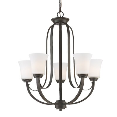 Halliwell 5-Light Shaded Chandelier Finish: Bronze