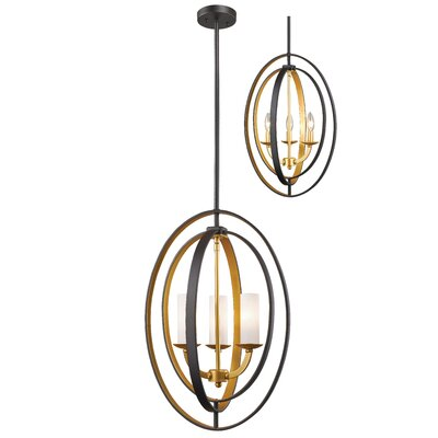 Kiara 3-Light Globe Pendant Finish: Bronze Gold