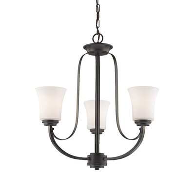 Halliwell 3-Light Shaded Chandelier Finish: Bronze