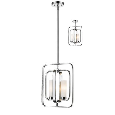 Aideen 2-Light Pendant Finish: Chrome