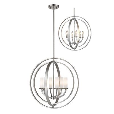 Kiara 6-Light Globe Pendant Finish: Brushed Nickel