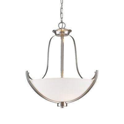 Halliwell 3-Light Bowl Pendant Finish: Brushed Nickel