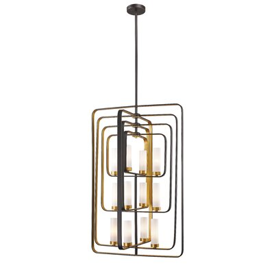 Aideen 12-Light Foyer Pendant Finish: Bronze Gold