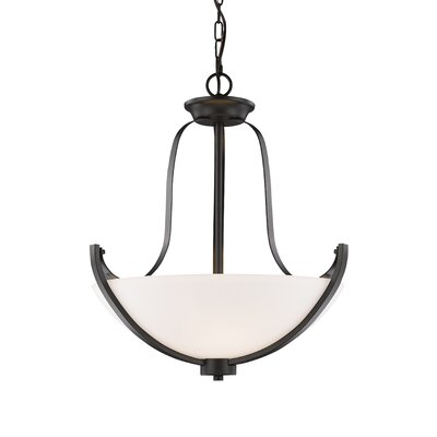 Halliwell 3-Light Bowl Pendant Finish: Bronze