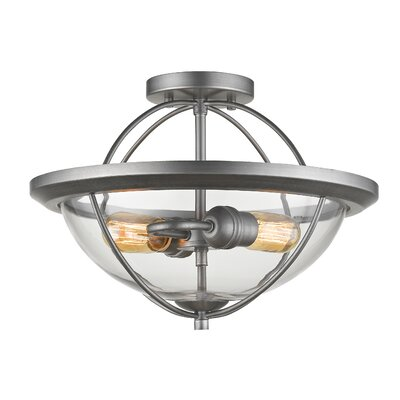 Persis 2-Light Semi Flush Mount