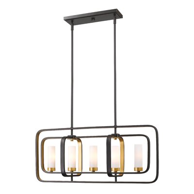 Aideen 5-Light Kitchen Island Pendant Finish: Bronze Gold