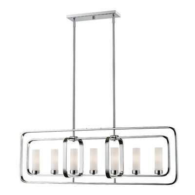 Aideen 7-Light Kitchen Island Pendant Finish: Chrome