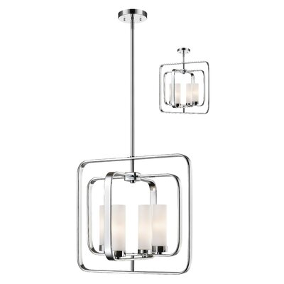 Kewdale 4-Light Foyer Pendant Finish: Chrome