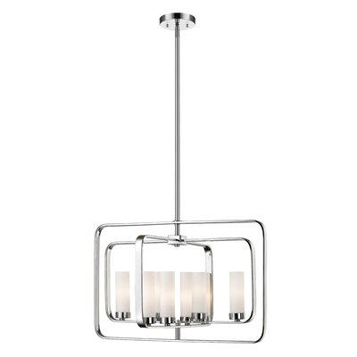 Kewdale 8-Light Geometric Pendant Finish: Chrome