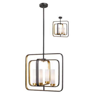 Aideen 4-Light Foyer Pendant Finish: Bronze Gold