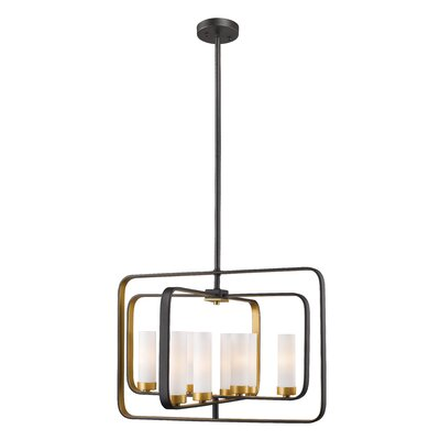 Kewdale 8-Light Geometric Pendant Finish: Bronze Gold