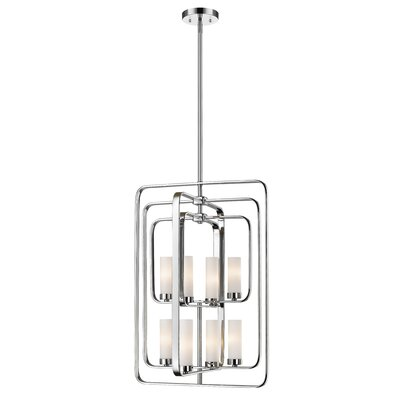 Aideen 8-Light Foyer Pendant Finish: Chrome