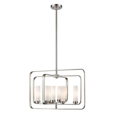 Aideen 8-Light Geometric Pendant Finish: Brushed Nickel