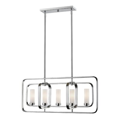 Aideen 5-Light Kitchen Island Pendant Finish: Chrome