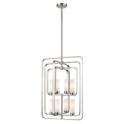 Kewdale 8-Light Foyer Pendant Finish: Brushed Nickel