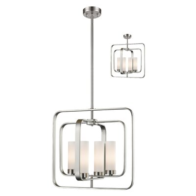 Kewdale 4-Light Foyer Pendant Finish: Brushed Nickel