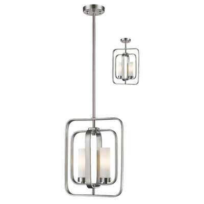 Aideen 2-Light Pendant Finish: Brushed Nickel