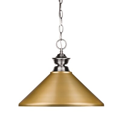 Shark 1-Light Billiard Pendant Shade Color: Satin Gold