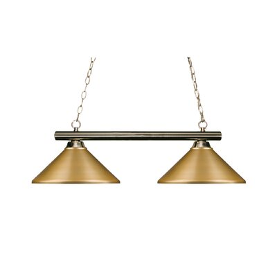 Chaparro 2-Light Billiard Light Shade Color: Satin Gold