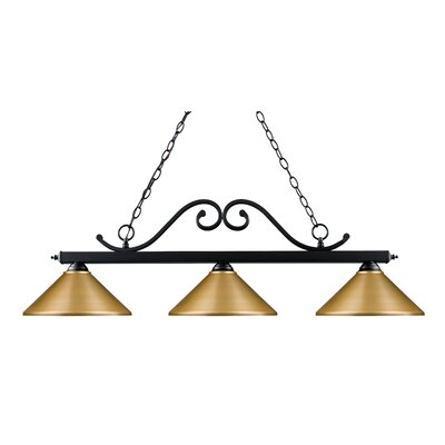 Begaye 3-Light Billiard Light Shade Color: Satin Gold