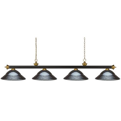 Zephyr 4-Light Metal Shade Pool Table Light Shade Color: Stepped Gun Metal