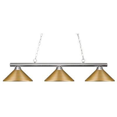 Chaparro 3-Light Pool Table Light Finish: Chrome