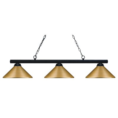 Chaparro 3-Light Pool Table Light Finish: Matte Black