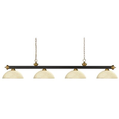 Riviera 4-Light Pool Table Light Shade Color: Dome Golden Mottle