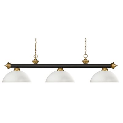 Riviera 3-Light Pool Table Light Shade Color: Dome Matte Opal