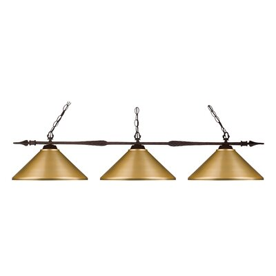 Beech Hill 3-Light Pool Table Light Size: 12 H x 49.75 W x 14 D