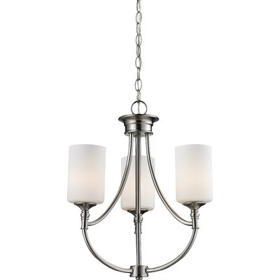 Cannondale 3-Light Shaded Chandelier