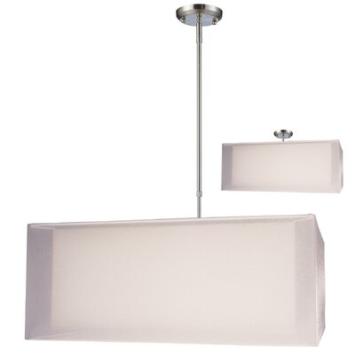Nikko 3-Light Pendant Finish: White