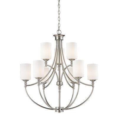 Hillsboro 9-Light Shaded Chandelier