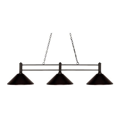 Beeching 3-Light Pool Table Light Shade Color: Bronze