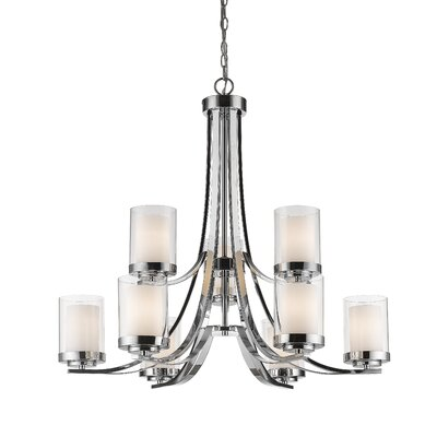Cheyne 9-Light Candle-Style Chandelier Finish: Chrome