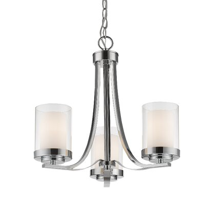 Cheyne 3-Light Candle-Style Chandelier Finish: Chrome