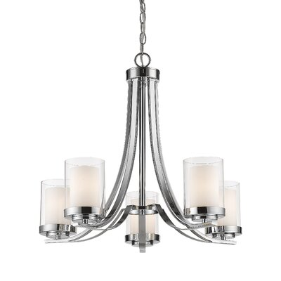 Cheyne 5-Light Candle-Style Chandelier Finish: Chrome