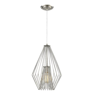 Quintus 1-Light Mini Pendant Finish: Brushed Nickel