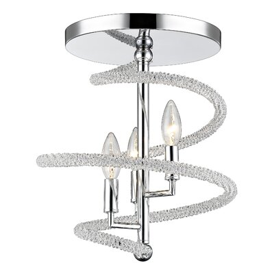 Czarina 3-Light Semi Flush Mount
