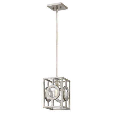 Silvey 1-Light Mini Pendant Finish: Antique Silver