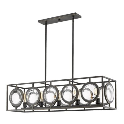 Silvey 5-Light Kitchen Island Pendant Finish: Olde Bronze