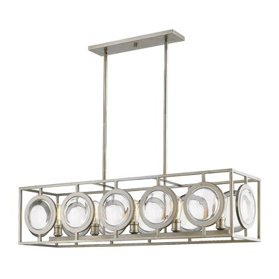 Silvey 5-Light Kitchen Island Pendant Finish: Antique Silver