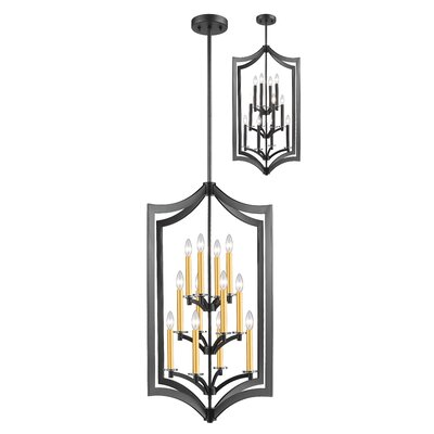 Zander 12-Light Foyer Pendant Finish: Bronze