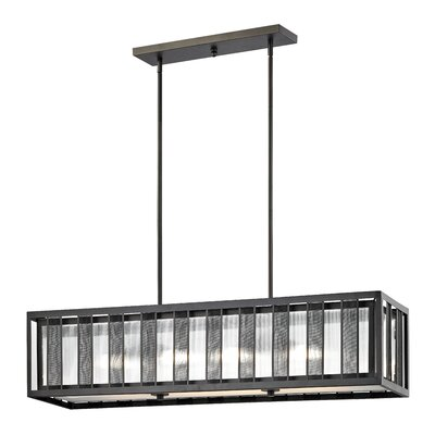 Valerii 4-Light Kitchen Island Pendant Size: 10 H x 42 W x 10 D